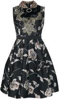 Antonio Marras bow detail floral dress - women - Cotton/Acrylic/Nylon/Other fibres - 40