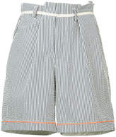 Kolor striped deck shorts