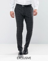 ONLY & SONS Slim Pant In Check Fleck
