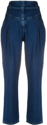 Alberta Ferretti High Rise Straight-Leg Jeans