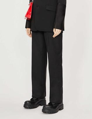 Burberry Zohra wide-leg high-rise wool-blend trousers
