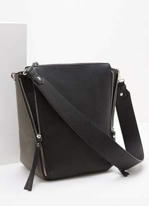 Mint Velvet Jenna Black & Grey Zip Bag