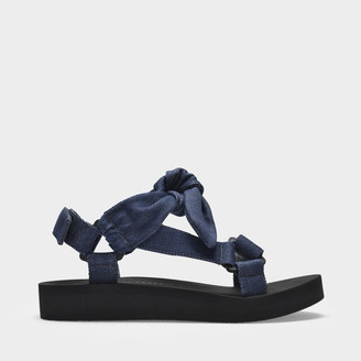 Loeffler Randall Maisie Sport Sandals In Blue Denim