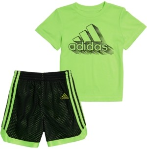 adidas Baby Boys 2-Pc. Printed T-Shirt & Mesh Shorts Set