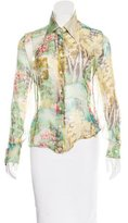 Paul Smith Printed Button-Up Top