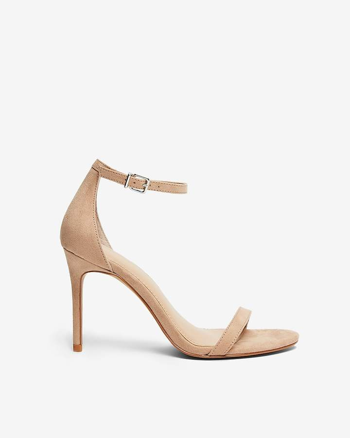 Express Thin Heeled Faux Suede Sandals