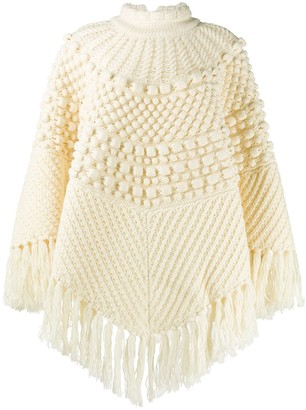 Saint Laurent Chunky-Knit Poncho