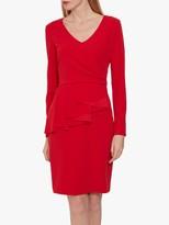 Gina Bacconi Eliane Crepe Peplum Dress