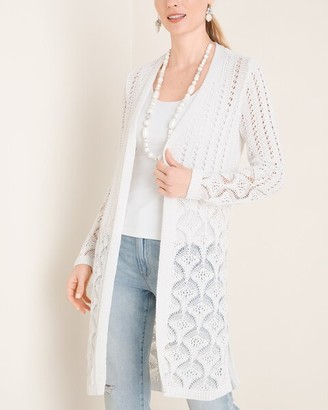 Chico's Open-Front Pointelle Cardigan