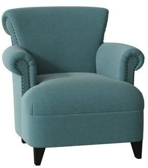 LG Electronics Loni M Designs Jimmy Arm Chair Loni M Designs Body Fabric Thunderbird, Leg Color: Espresso, Nailhead Detail: Bronze
