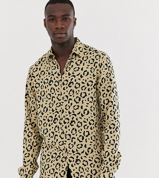 ASOS DESIGN Tall regular fit animal print shirt