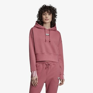 adidas 'Reveal Your Voice' Crop Hoodie Sweatshirt - Trace Maroon