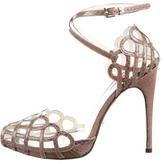 Cesare Paciotti Snakeskin Platform Sandals