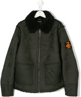 Diesel shearling zipped jacket