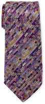 Missoni Purple & Yellow Silk Tie