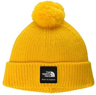 The North Face Kids Box Logo Pom Beanie (Infant) (TNF Yellow) Beanies