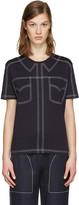 Stella McCartney Navy Topstitched T-shirt