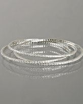 silver CZ pave linked bangles