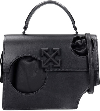 Off-White Hole Jitnes 2.8 Hand Bag In Black Leather