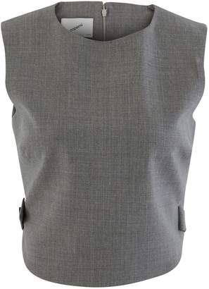 Coperni Open Back Vest Wool Top
