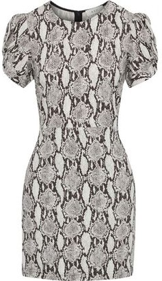 A.L.C. Brinley Twisted Snake-print Cady Mini Dress