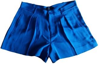 Polo Ralph Lauren Blue Silk Shorts for Women