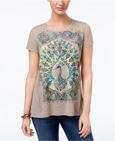 Style&Co. Style & Co Peacock Graphic T-Shirt, Only at Macy's