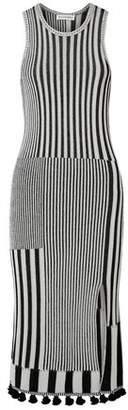 Altuzarra Lutetia Tasseled Ribbed Stretch-knit Midi Dress