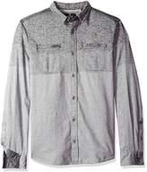 Buffalo David Bitton Men's Sifaro Long Sleeve Fashion Woven Shirt