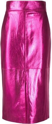 Boutique Moschino Metallic Finish Skirt