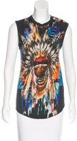 Balmain Graphic Print Sleeveless T-Shirt