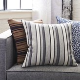 "CB2 20"" The Hill-Side workwear blanket stripe pillow with down-alternative insert"
