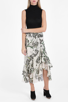 Erdem Cerena Lurex Floral Skirt