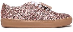 Acne Studios Adriana Spark Appliqued Glittered Leather Sneakers