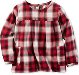 Carter's Plaid Flannel Babydoll Top, Little Girls (2-6X)