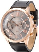English Laundry Men's Watch EL7919RG236-271 Gold Tone, Dial, Leather Strap