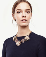 Ann Taylor Crystal Sequin Floral Necklace