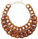 Expression Two Row Plastic Link Necklace