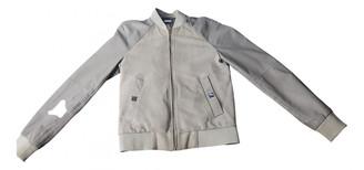 Versace Grey Suede Jackets