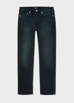 Men's Slim-Fit 11.8oz 'Crosshatch Stretch' Navy Over-Dye Jeans