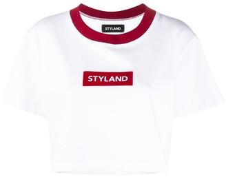 Styland box logo crop T-shirt