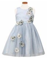 Sorbet Girl's Flower Applique Tulle Party Dress