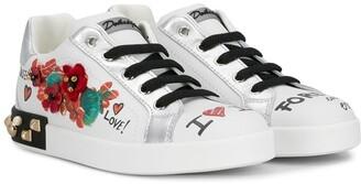 Dolce & Gabbana Kids Graffiti Print Sneakers
