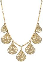 1928 Openwork Teardrop Charm Necklace