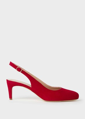 Hobbs Emma Suede Stiletto Slingback Court Shoes