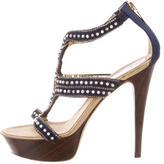 Rene Caovilla Beaded Platform Sandals