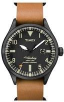 Timex 'Waterbury' Leather Strap Watch, 40mm