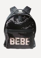 Bebe Logo Sequin Backpack