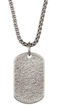 Steve Madden Blasted Dog Tag Necklace