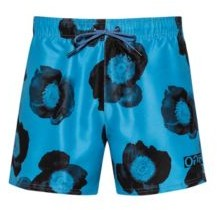 Floral-print swim shorts in quick-dry fabric